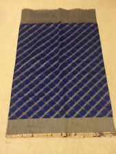Banares net saree indigo blue