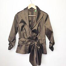 Tadashi Womens Size 14 Short Blouse Top Cocktail Formal Metallic Bronze