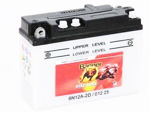 Batterie moto Banner 01225 6N12A-2D 6V 12AH