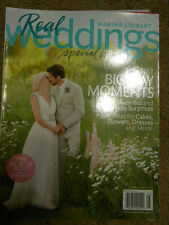 MARTHA STEWART REAL WEDDINGS SPECIAL ISSUE THE BEST BIG DAY MOMENTS BRIDE APPR.