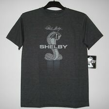 SIZE L AUTHENTIC  CARROLL SHELBY COBRA T-SHIRT AUTHENTIC  CHARCOAL L
