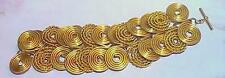 Haute Couture Runway Bracelet Gold Spiral Disc Link Vintage High Carat Lagerfeld