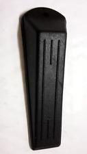 Confezione da 2 Nero Heavy Duty in gomma per porte Zeppa si ferma