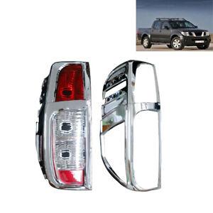Fit Nissan Navara D40 2005-2015 CHROME REAR TAIL LIGHT LAMP COVERS TRIMS UK Sell
