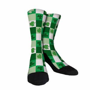 Irish Argyle Custom novelty Socks Shamrock green unisex St. Pattys Day