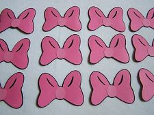 Minnie Mouse party favors pink cardstock bows set of 12 | free shipping