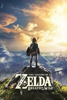 The Legend of Zelda Breath of The Wild Hyrule Video Gaming Poster - 24x36