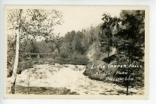 Copper Falls RPPC Ashland Co WI Mellen BRIDGE Vintage Photo 1930s