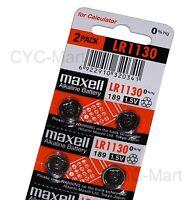 New Zero Hg Maxell LR1130  Batteries x4 pcs AG10 189 Brand New FREE POST 12/2021