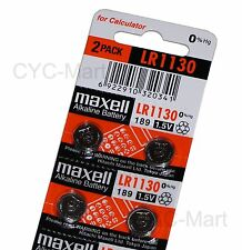 New Zero Hg Maxell LR1130  Batteries x4 pcs AG10 189 Brand New FREE POST 12/2021