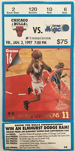 Chicago Bulls Orlando Magic Ticket Stub (Jan. 3, 1997, United Center)