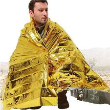 Waterproof Survival Emergency Solar Blanket Rescue Space Outdoor Camp Reusable d