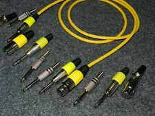 Chinch Cable STEREO length 1 m yellow