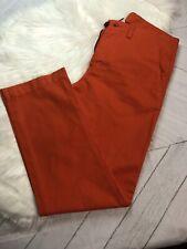 JCP Womens 2 Ply Twill Orange Pants Khaki Pants Size 32 x 30