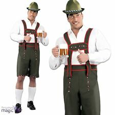 Mens Oktoberfest German Beer Man Lederhosen Bavarian Fancy Dress Costume Outfit