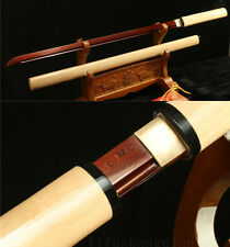 39' DAMACUS FOLDED  STEEL RED Buffalo Horn JAPANESE SAMURAI KATANA SWORD