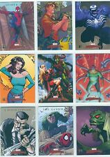 Marvel Masterpieces 2007 Complete Spiderman Chase Card Set S1-S9