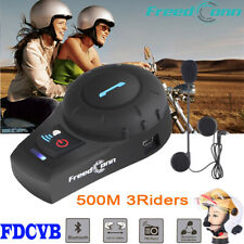 Freedconn FDCVB 3 Riders Intercom Motorcycle Bluetooth Headset Helmet FM Radio