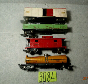 American Flyer set of 4 freight cars for parts/repair
