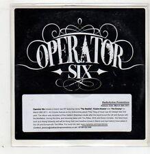(GB734) Operator Six, The Realist - 2011 DJ CD