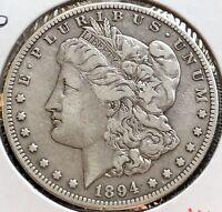 USA 1894 S Morgan Dollar Silber San Francisco Selten Gute Erhaltung XF #12082