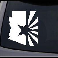 5 Pack Arizona State Map Flag AZ State Home Permanent Vinyl Decal Bumper Sticker
