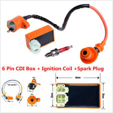 Racing 6 Pin Ignition Coil CDI+Ignition Coil+Spark Plug For GY6 50cc 125cc 150cc