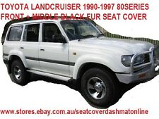 BLACK FUR FRONT + MIDDLE SEAT COVER (SHEEPSKIN LOOK)TOYOTA LANDCRUISER 1990-1997