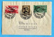 1948 TRIESTE VALORI GEMELLI -BASSANO £.15 + DONIZETTI £.15 per gli USA  (239589)