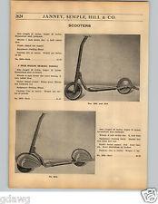 1936 PAPER AD Streamlined Fenders Art Deco Design Sidewalk Scooter