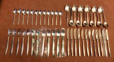 Besteck  BSF  - RAUHREIF - Silber 90, 12 Pers. 48 Teile
