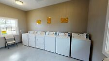 Commercial Coin Operated washers(3) dryers(3)Cae2754Fq and Cem2745Fq Whirlpool