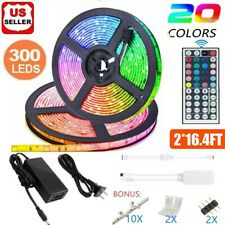 Led Strip Lighting 2*5M 32.8 Ft 5050 RGB 300 LEDs Flexible Color Changing Light