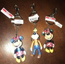 Disney Parks Minnie Mouse or Goofy Figure Keychain U PICK