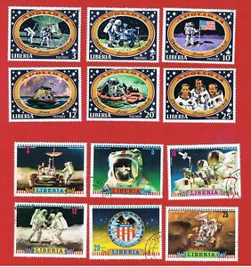 Liberia #549//604  VF used  2 Sets  Apollo  Free S/H