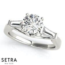 Tapered Baguette Women's Engagement Rings Diamond 14k Gold