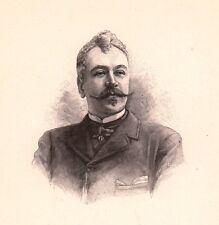 Portrait XIXe René Maizeroy Baron René Jean Toussaint Metz Moselle Romancier