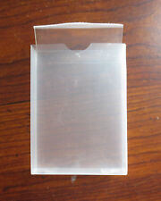 1 Pack of 10 Clear Plastic Cases for Bicycle Playing Cards & Most Other Brands