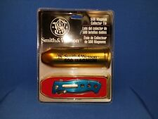 RARE Smith & Wesson 500 Magnum Collector Knife Tin  New in Package