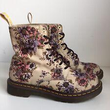Dr Martens Beckett Floral Cream Fabric Boots Size 5