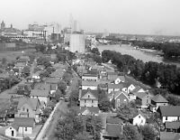 """1939 Aerial View of St. Paul, Minnesota Vintage Old Photo 8.5"""" x 11"""" Reprint"""