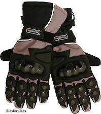 Gants imperméable en cuir et textile pour motocyclette