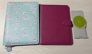 Filofax 2 iPad Mini Tablet Case Cover Mint Pink Butterfly Pennybridge eniTAB 360