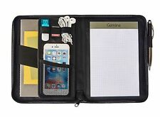Gemline Cedar Junior Simulated Black Leather Padfolio On-trend, modern Style New