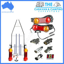 MARINE TRAILER LIGHT KIT SUBMERSIBLE LED LIGHT NUMBER PLATE LIGHT & PLUG BOAT