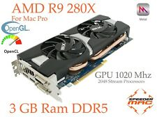  R9 280X for Apple Mac Pro, 3GB, 4k, 5 Gt/s Metal Mojave X.14 Catalina X.15