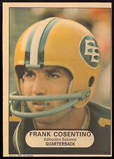 1968 OPC MINI POSTER INSERTS CFL FOOTBALL FRANK COSENTINO EX-NM EDMONTON ESKIMOS