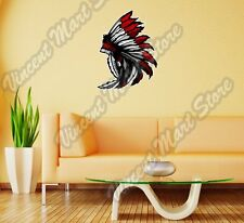 "Native American Indian Chief Headdress Wall Sticker Room Interior Decor 20""X25"""