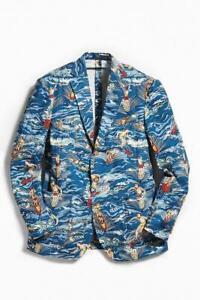 Polo Ralph Lauren Mens Yale Sportcoat in Polo Surfer Print | Linen Blazer | 38R