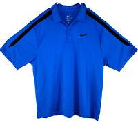 Nike Dri-Fit Mens Golf Polo Short Sleeve ShirtNavy Blue Size Large